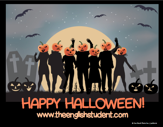 The English Student, www.theenglishstudent.com, Halloween, happy halloween, ESL blog, Halloween vocabulary, treat or treating, what does trick or treat mean