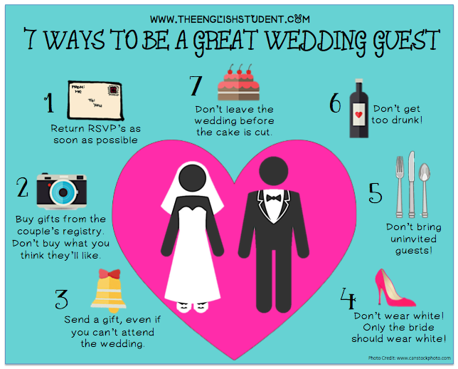 Wedding Guest Makeup Etiquette : Fun English learning site for students and teachers - The ...