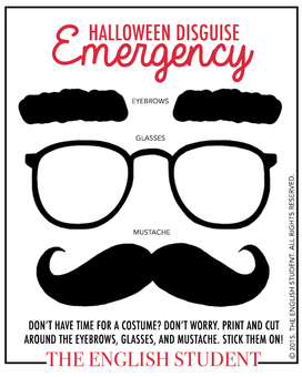 The English Student Emergency Halloween Disguise
