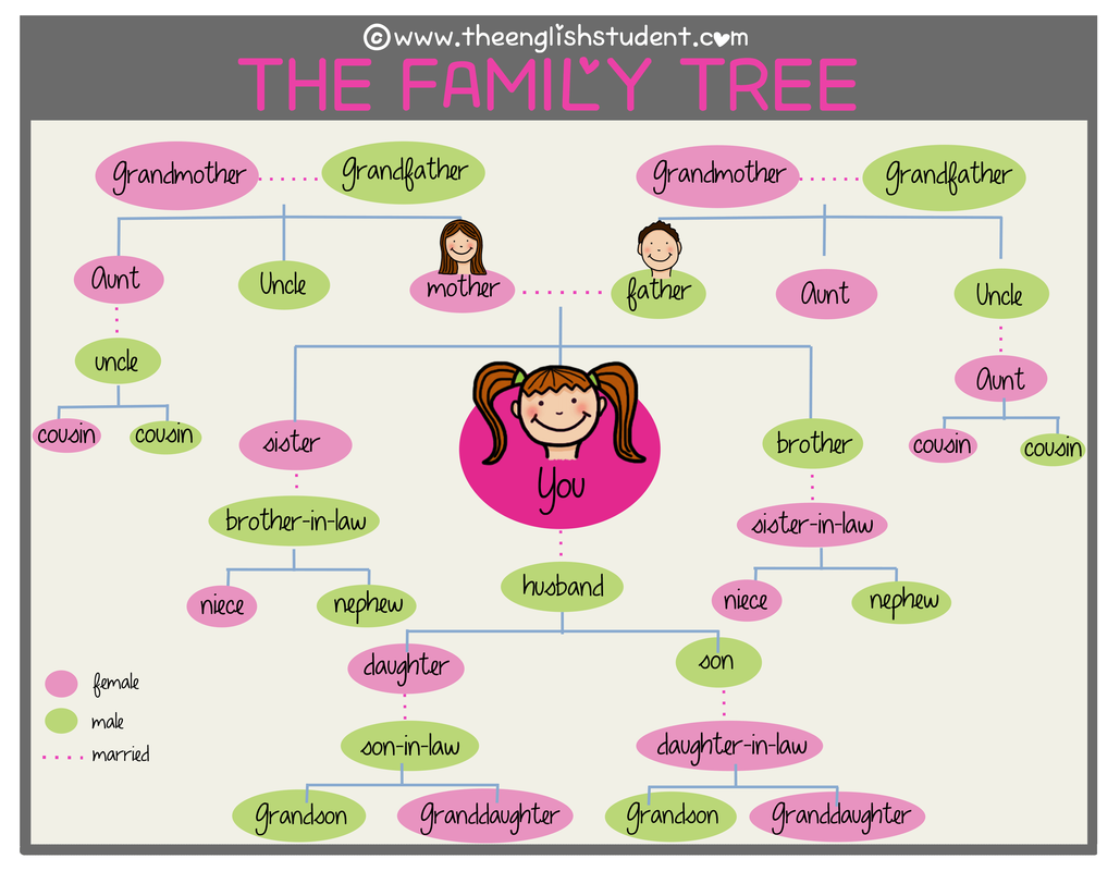 family relationship names in english and urdu