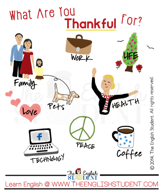 The English Student, www.theenglishstudent, the english student blog, ESL blog, ESL website, thanksgiving, gratitude, thankful, giving thanks, celebrating thanksgiving, thanksgiving pictures, thanksgiving poster, giving thanks, ESL holidays, ELL, things to be thankful for, learn English