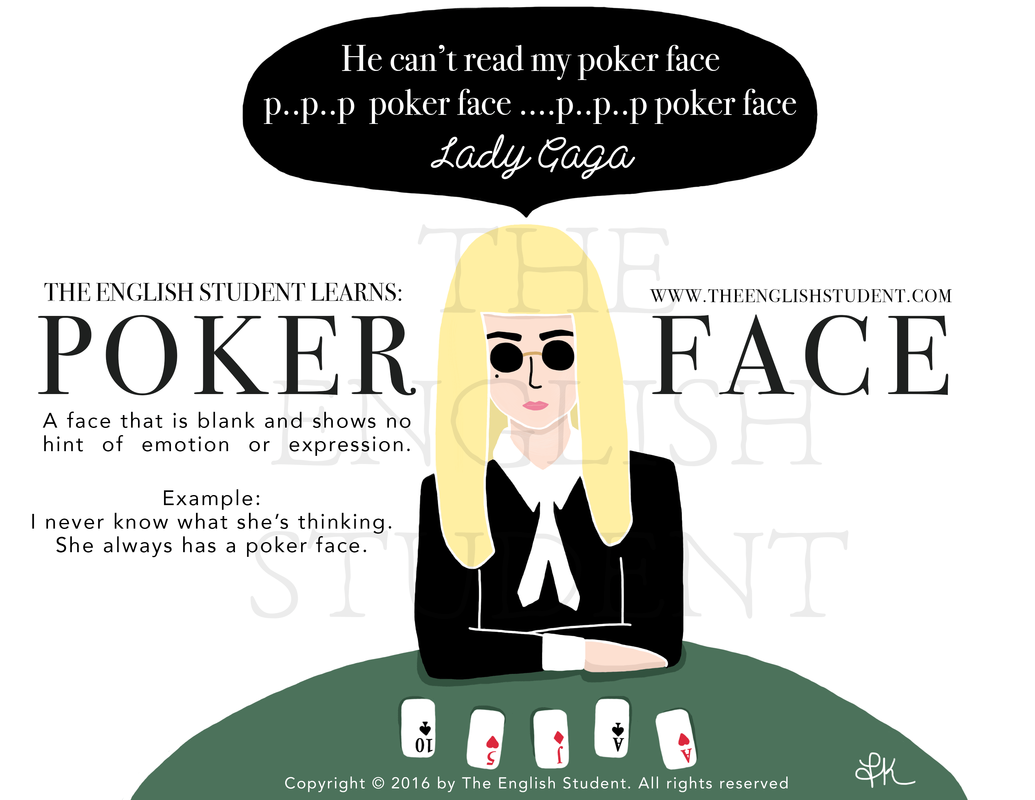 What does poker face mean in texting roulette trottinette decathlon